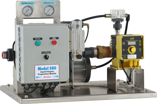 Model 580 Liquid Polymer Blending System with Motorized Activation Chamber
